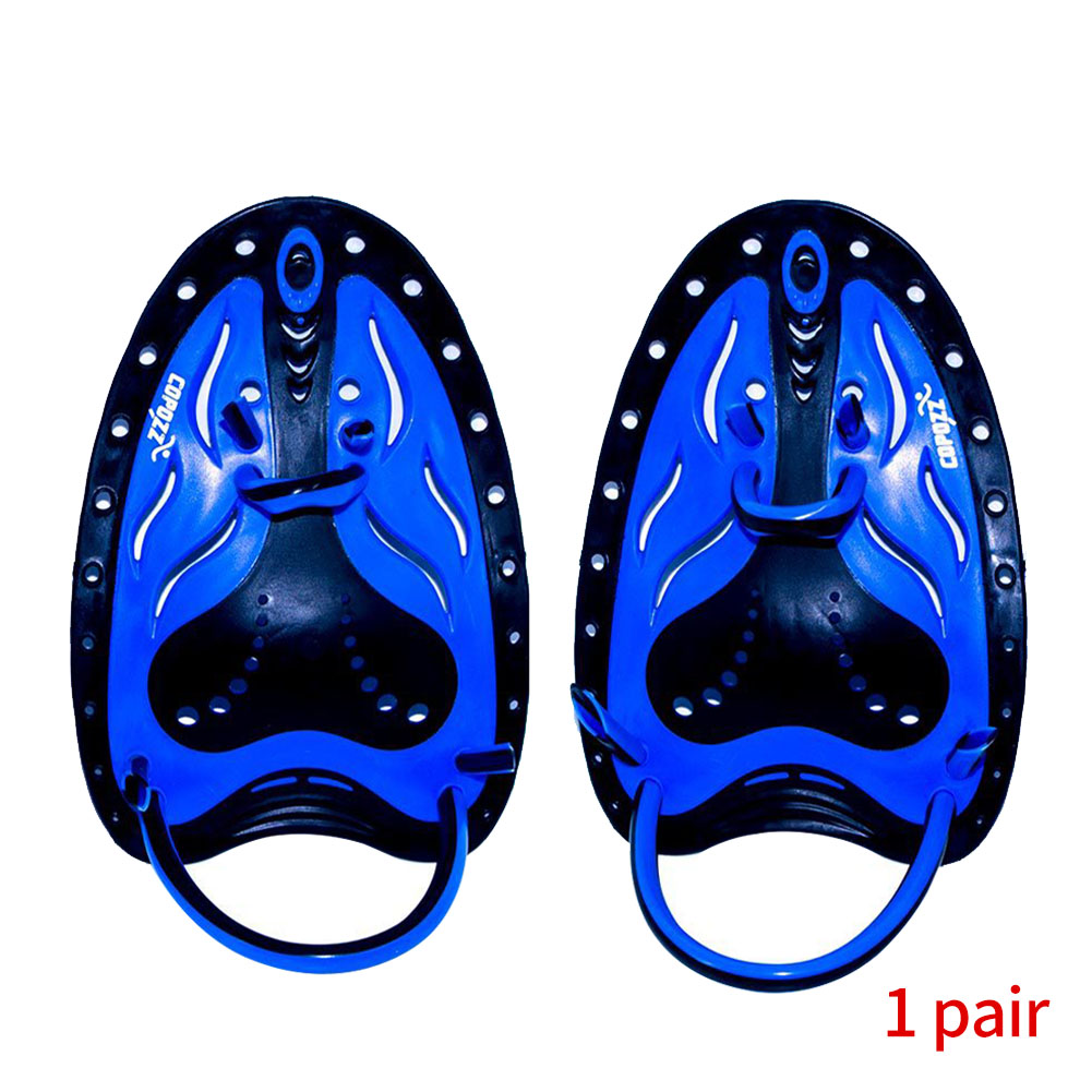 1 Pair Gear Swimming Paddles Silicone Hand Adjustable Webbed Flipper Accessories Professional Watersport Strokes Training Fin