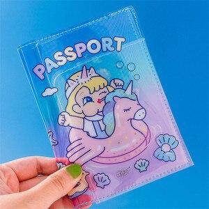 Милое желеобразное покрытие для паспорта Milkjoy, прозрачный чехол из ПВХ с сердечком для паспорта, защитный чехол для ID путешествия