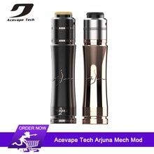 Original Acevape Tech Arjuna Mech Mod Kit 25mm diameter Mechanical Mod For 18650 20700 21700 Battery Vape pen mod Kits