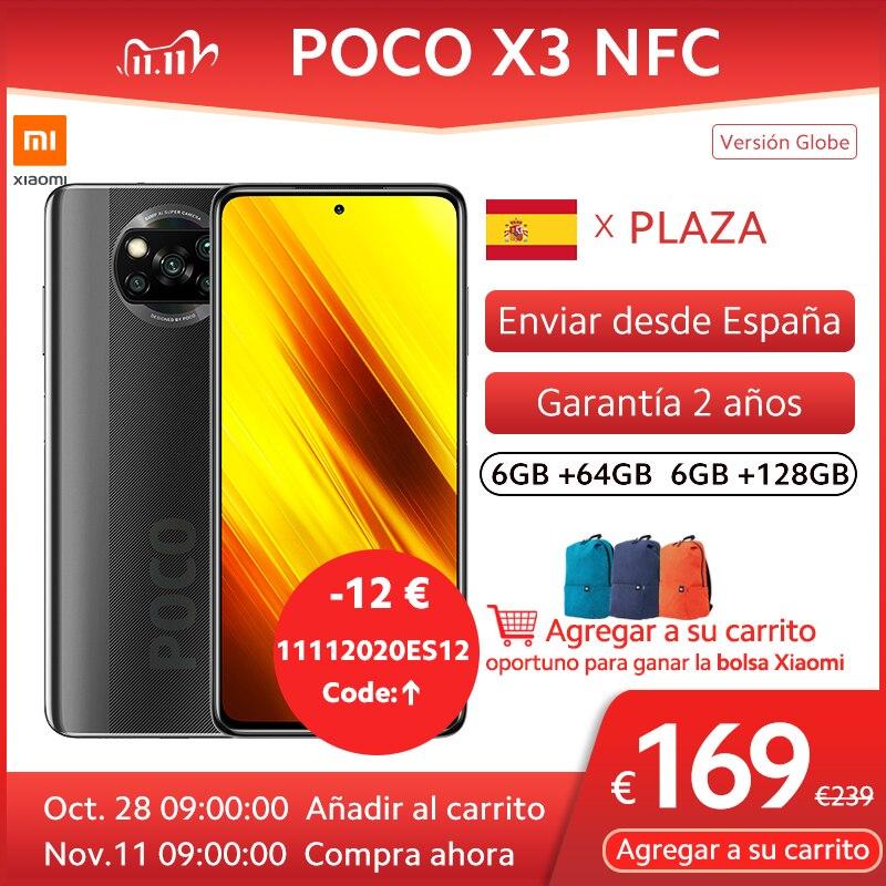 Xiaomi-teléfono inteligente POCO X3 NFC, versión Global, 732 Snapdragon G, pantalla táctil FHD de 6,67 pulgadas, cámara cuádruple ia de 64MP, batería de 5160mAh, 33W FC