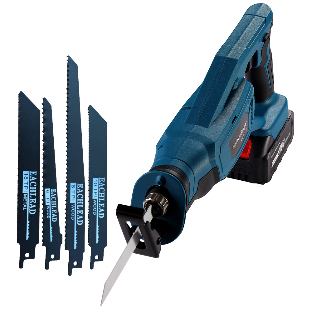 Tools : Lithium battery reciprocating saw 18v cordless reciprocating saw with two 4 0 Ah battery