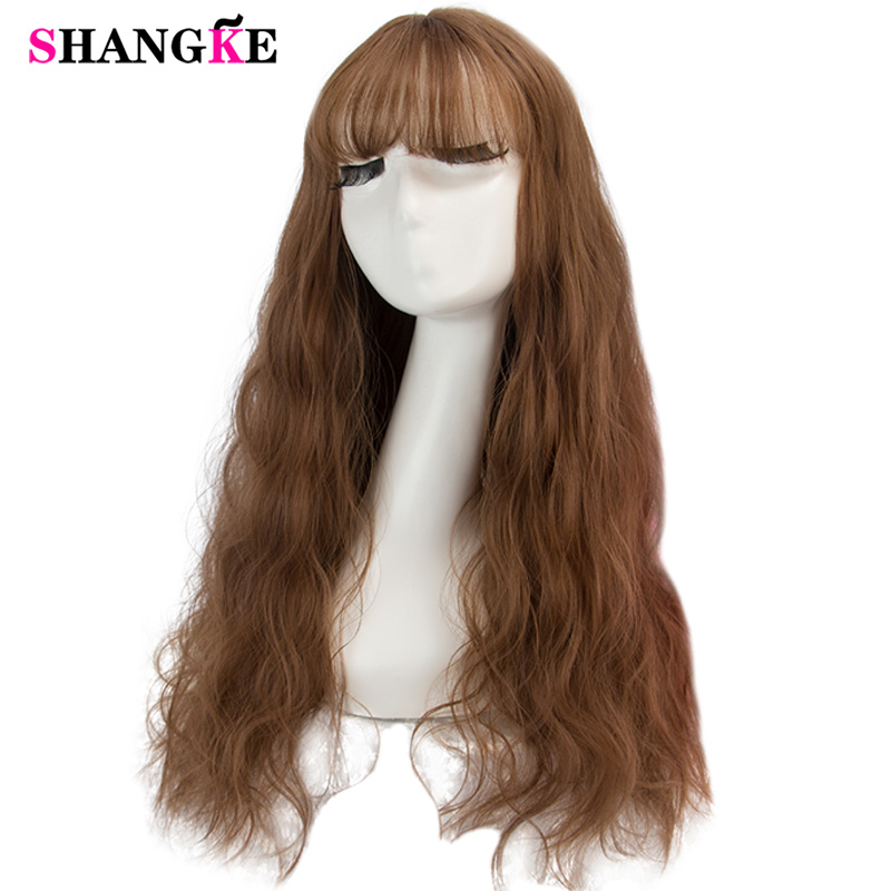 SHANGKE Blonde Wig Long Hairstyles  Long Kinky Curly Synthetic Wigs For Women High Temperature Womens