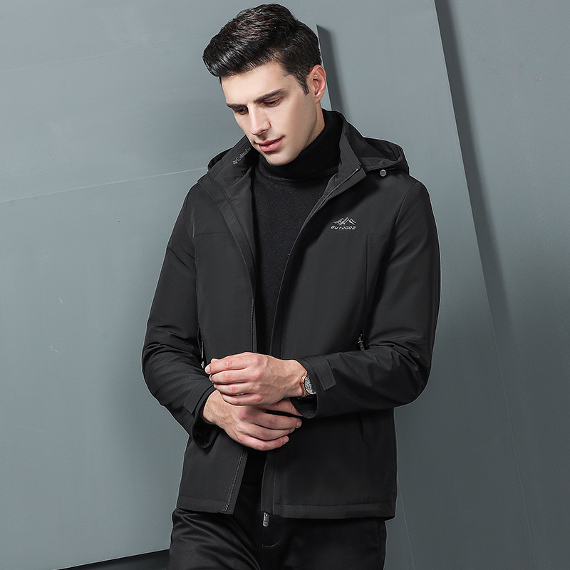 Куртки бомберы мужские 2019 зимние куртки мужские черные модные пальто с капюшоном куртки мужская одежда серая Осенняя верхняя одежда - 3