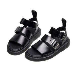 Image 2 - Designer sandals  Gladiator Gryphon Strap Martins Leather women's sandals Summer 2020 Womens Sandals Flat Women Shoes
