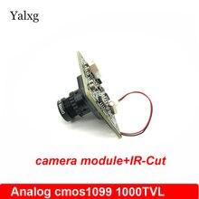 Yalxg Home Security Analog Surveillance CCTV Mini Camera Module Board Cmos Sensor 1099 1000 TVL With IR-CUT Filter And BNC Cable