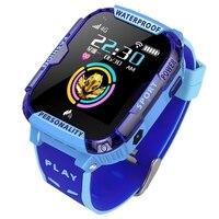 4g crianças relógio inteligente criança sos chamada de emergência smartwatch gps posicionamento rastreamento ip67 à prova dip67 água do miúdo relógio|Relógios inteligentes| |  -