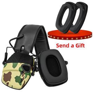 Image 3 - Elektroniczne nauszniki taktyczne słuchawki przeciwhałasowe wzmocnienie dźwięku strzelanie polowanie ochrona słuchu ochronne taktyczne nauszniki