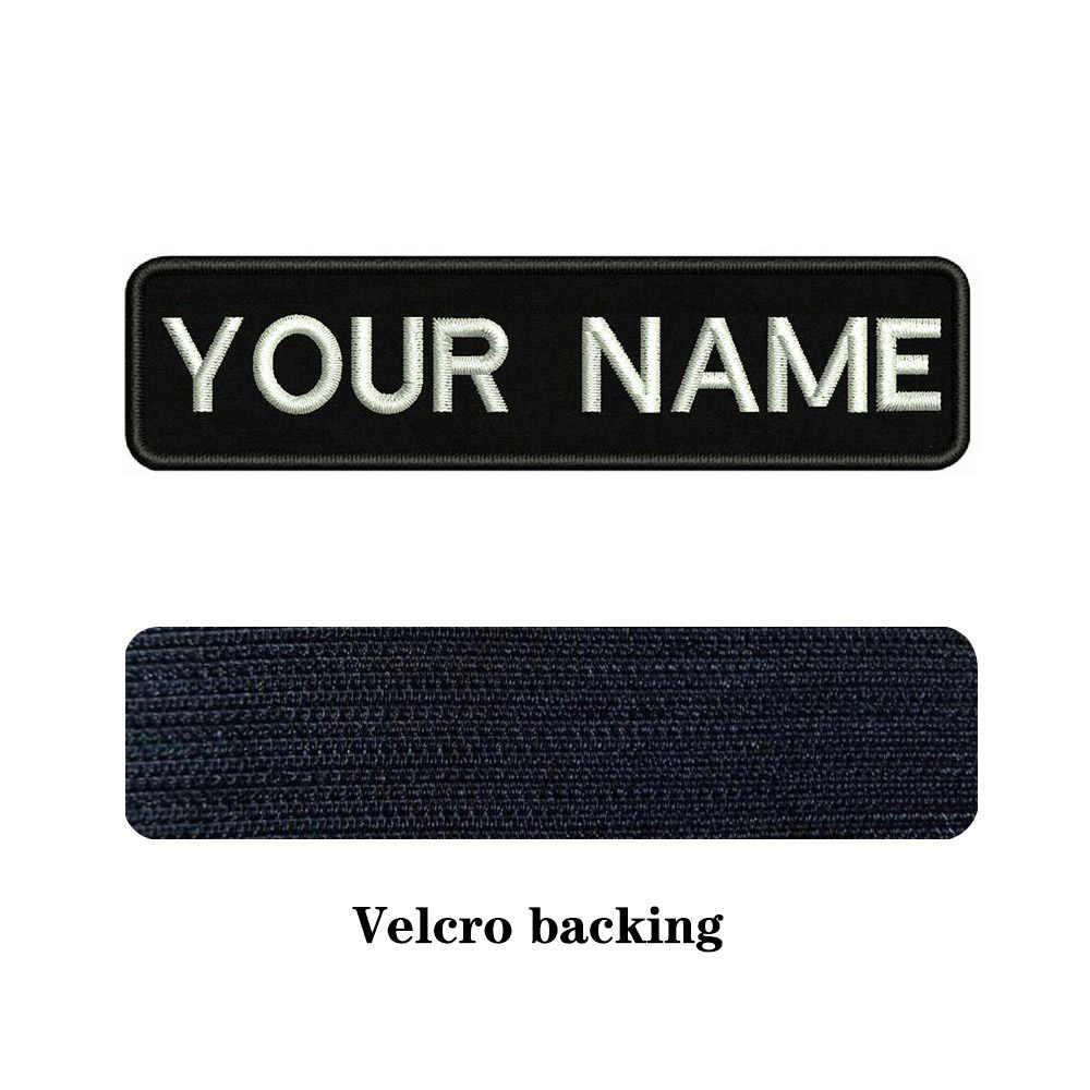 刺繍カスタム名テキストパッチストライプバッジ鉄やオンまたはベルクロテープパッチ服バックパック帽子アクセサリー