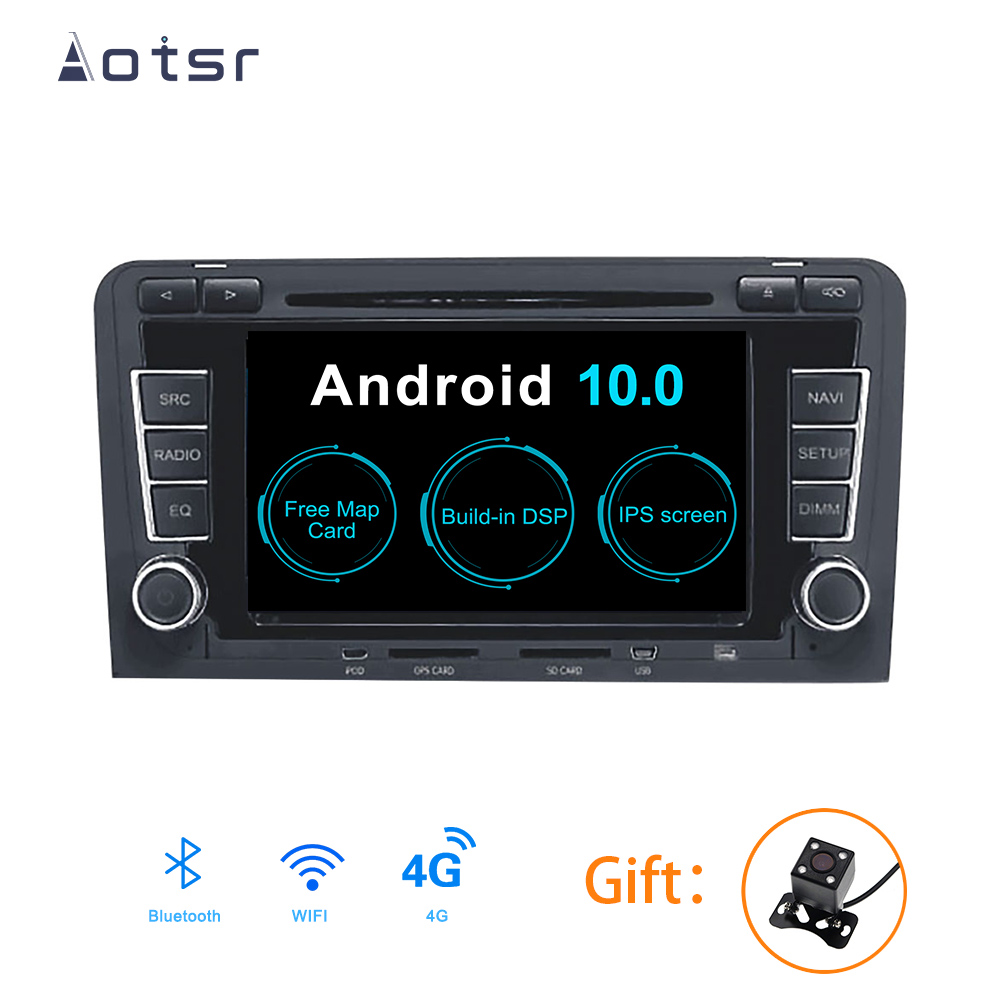 AOTSR <font><b>Android</b></font> 10.0 Car Multimedia Player GPS Navigation 1 Din IPS Screen DVD Bluetooth Radio For <font><b>BMW</b></font> <font><b>E90</b></font> <font><b>E91</b></font> <font><b>E92</b></font> <font><b>E93</b></font> Serie 3 image