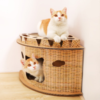 Corner cat scratch board claw grinder litter corrugated paper wear resistant carton cat scratch box toy cat cushion cat house