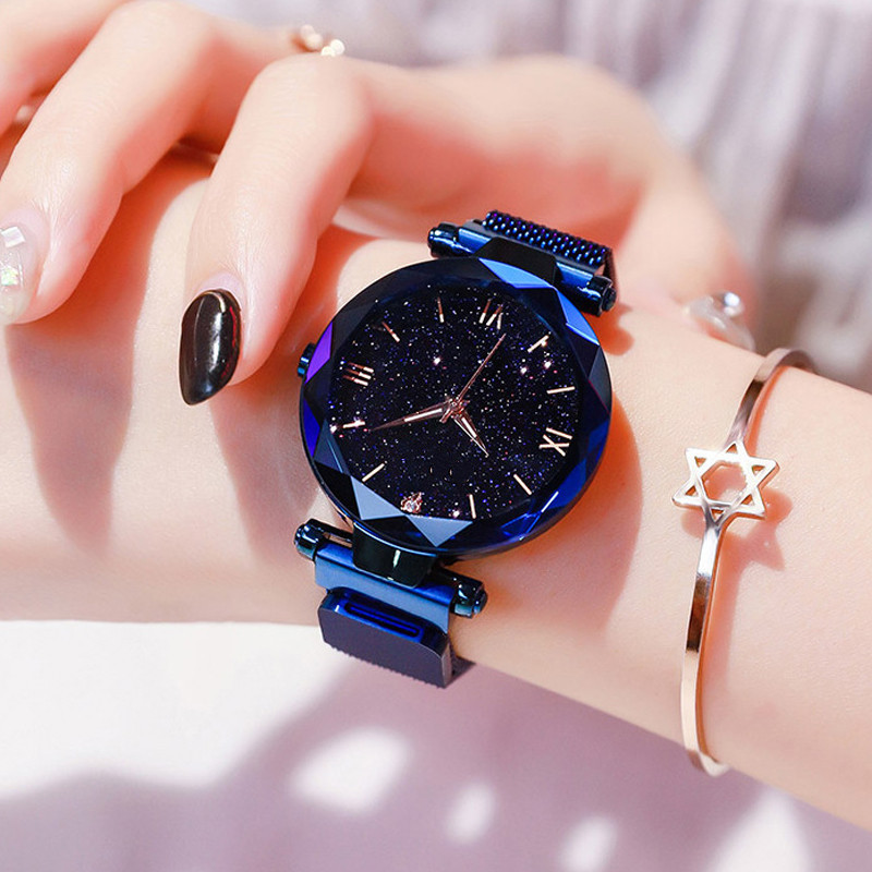 2020 Luxury Women Watch Women Personality Design Magnet Starry Sky Quartz Wristwatch Female Clock Relogio Feminino Reloj Hombre
