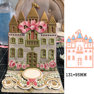 cross metal cutting die princess castle craft die template for diy Scrapbooking emboss paper card making die mould stencil