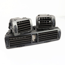 RWSYPL dla Passat B5 B6 tworzywo ABS samochodów przednia wewnętrzna deski rozdzielcze centralny wylot powietrza zestaw 3BD 820 951 3BD 819 701 3BD 819 702 tanie tanio ABS Plastic Klimatyzacja montaż 1 6kg Air Condition Air Vents Exhaust Nozzle +Alarm light switch 23cm 3B0820951 3B0819701 3B0819702