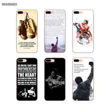 Rocky Balboa Motivational Words For Samsung Galaxy S2 S3 S4 S5 Mini S6 S7 Edge S8 S9 S10 Lite J4 J6 Plus 2018 Europe Phone Cover(China)