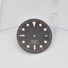 Watch Parts 30.4mm Watch Luminous Dial Rose Gold Marks for Unitas ETA 2836 Miyota 8215 821A Automatic Movement