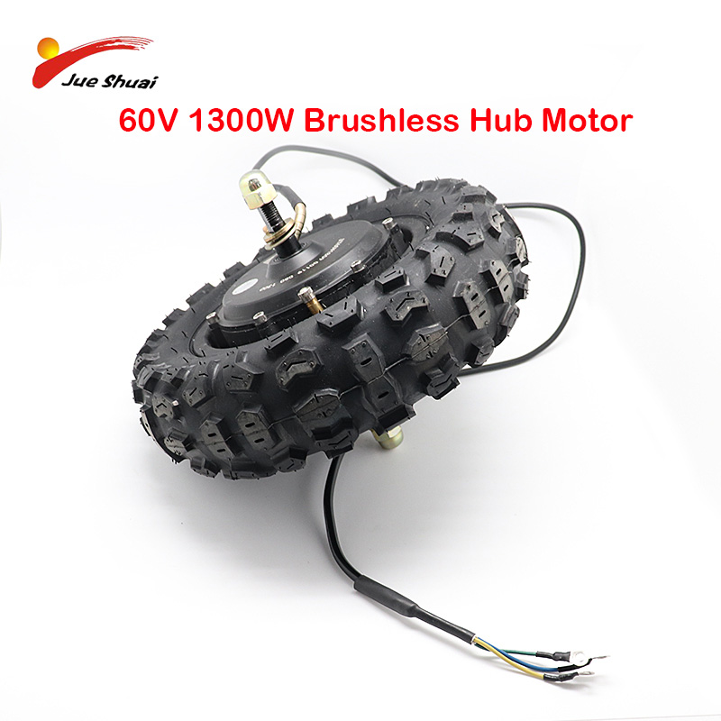 11Inch <font><b>60V</b></font> 1300W Motor Vacuum Tire Conversion kit off Road <font><b>Electric</b></font> <font><b>Scooter</b></font> Motor Parts Modified DIY Wheel Brushless hub Motor image