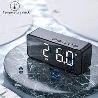 Altoparlante Bluetooth Mini scatola audio Wireless sveglia a specchio Mini portatile la scheda installa altoparlante a trasmissione vocale Wireless