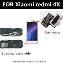 FOR Xiaomi redmi 4X Speaker earpiece FOR phone Repair and Replacement Parts repair parts plastic replacement speaker module for ipod touch 4 black