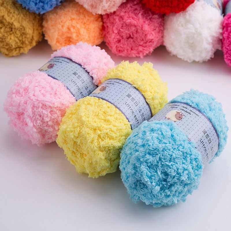 26 cor Marca Crianças Tecelagem Quente Cashmere de Crochê Cachecol de Lã Macia Cozy Fibras de Fio de Algodão Fio de Bebê de Tricô Acrílico