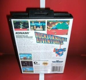 Image 2 - Rocket Knight aventures US couverture avec boîte et manuel pour Sega Megadrive Genesis Console de jeu vidéo 16 bits carte MD