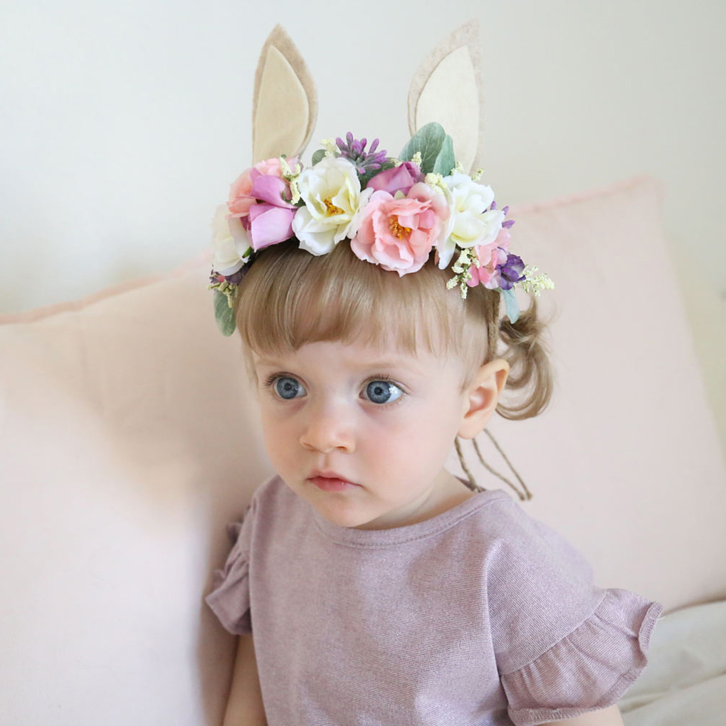 Flower Wreaths Children Girls Hoop New Wreath Headdress Flower Wreaths Garlands For Baby Girl Flower Wreath Baby Girl Headbands