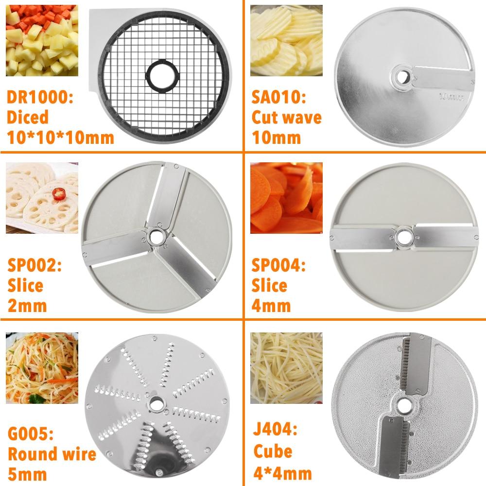 Xeoleo máquina vegetal parte comercial máquina de corte batata/tomate slicer parte queijo shredder parte vegetal chopper