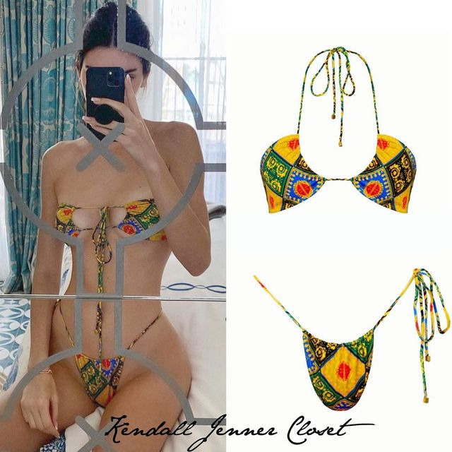K Jenner bikini summer swim women swimwear bikini set brezilian bikini set women swimsuit 2