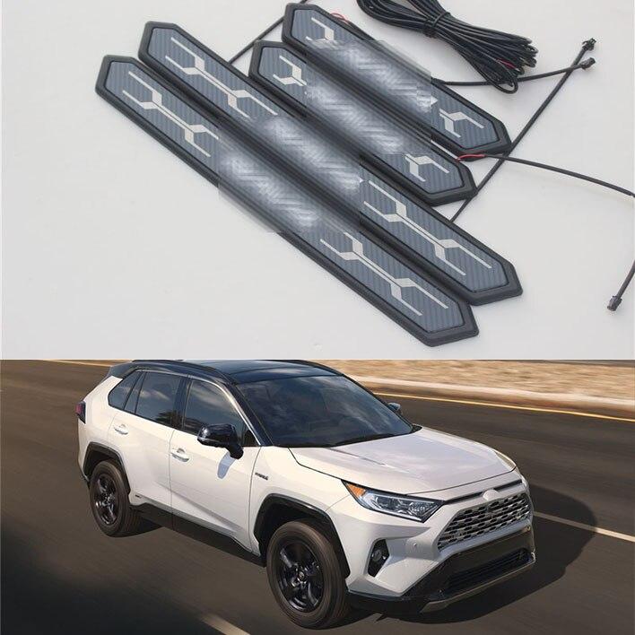Para a Toyota RAV4 RAV-4 XA50 2019 2020 Aço Inoxidável do Peitoril Da Porta Da Placa do Scuff Pedal Limiar guarnição da tampa
