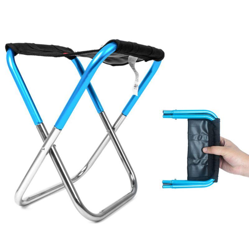 Outdoor Folding Chair Simple Mini Stool Portable Camping Fishing Train Aluminium Alloy