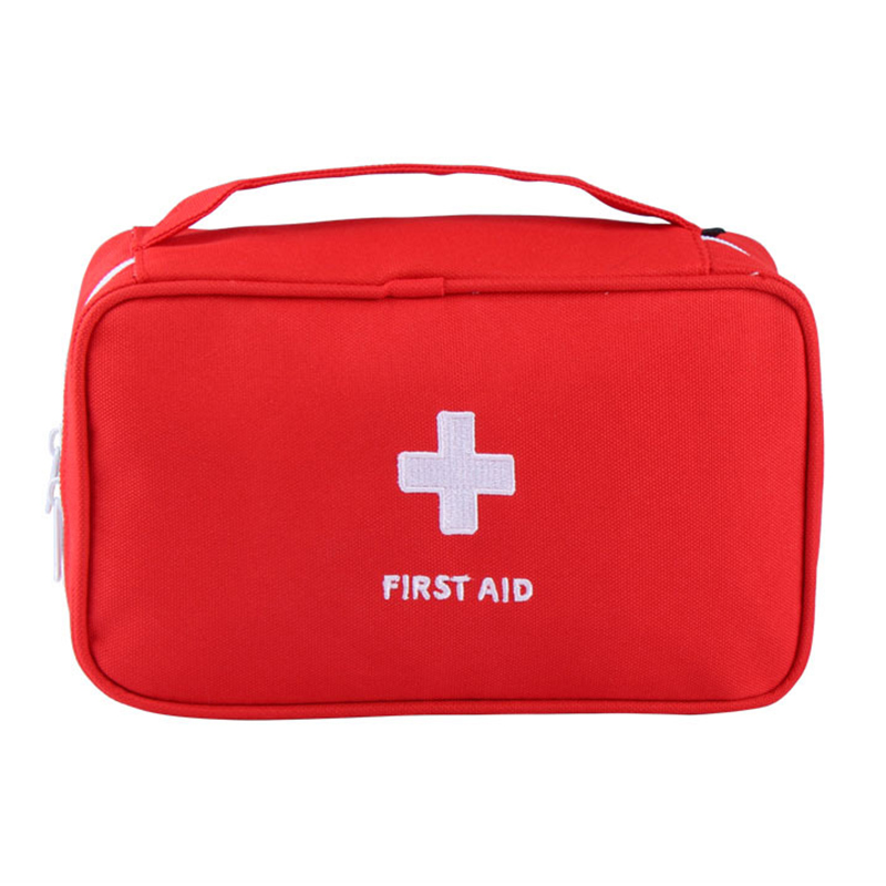Multifunction Emergency Bag First Aid Kit Zipper Nylon Pouch Camping Portable Handheld Bag Organizer Container