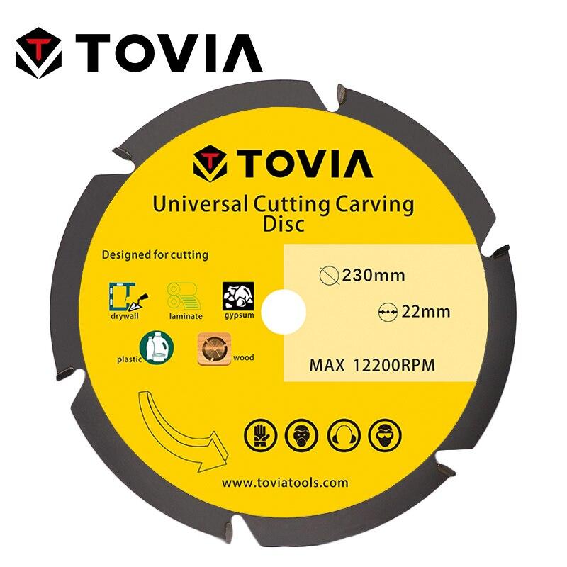 TOVIA 230mm Универсальный Пильный Диск по Дереву для УШМ 9inch 22.2mm по Газобетону Гипсокартону Пластику лезвия лезвие алмазный диск пилы для распил...