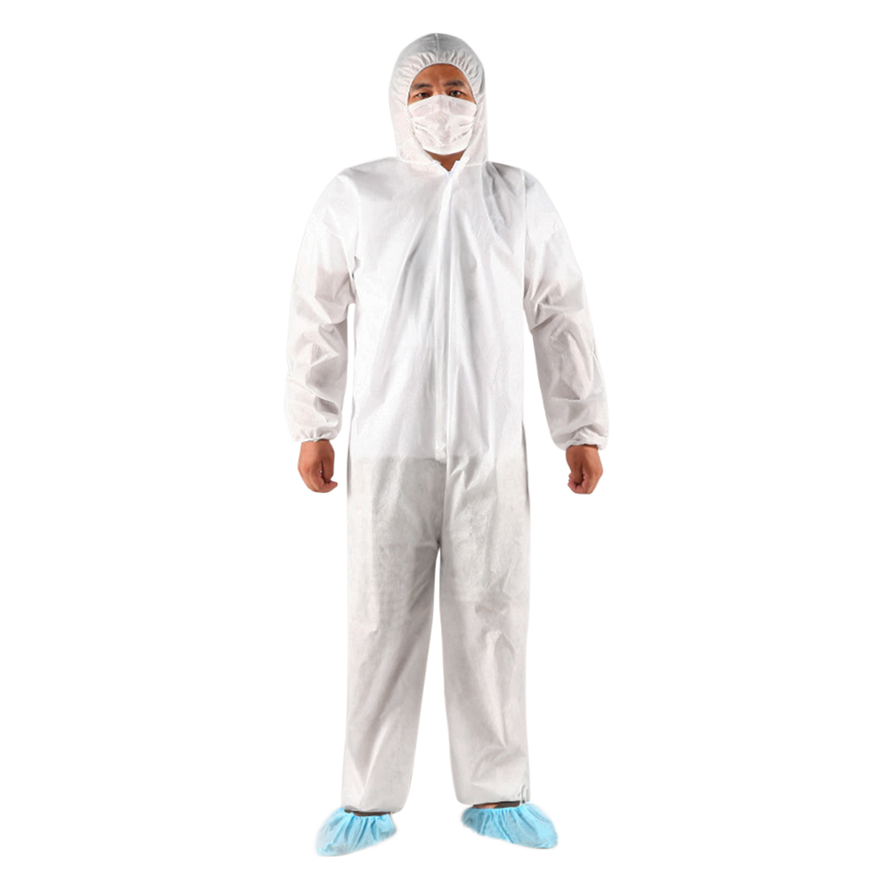 Disposable Coverall Dust Hooded Non-woven Dust-proof Clothing Coveralls Gown Unisex  Labor Safely Security Protection Clothes