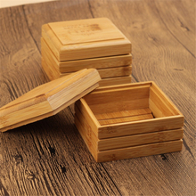 1pc Natural Bamboo Soap Dish Wooden Tray Holder Storage Rack Plate Box Container for Bathroom