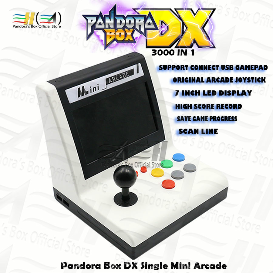 Original Pandora Box DX 3000 In 1 Single Mini Arcade Bartop Can Save Game Progress Scan Line Support Fba Mame Ps1 Have 3D Tekken