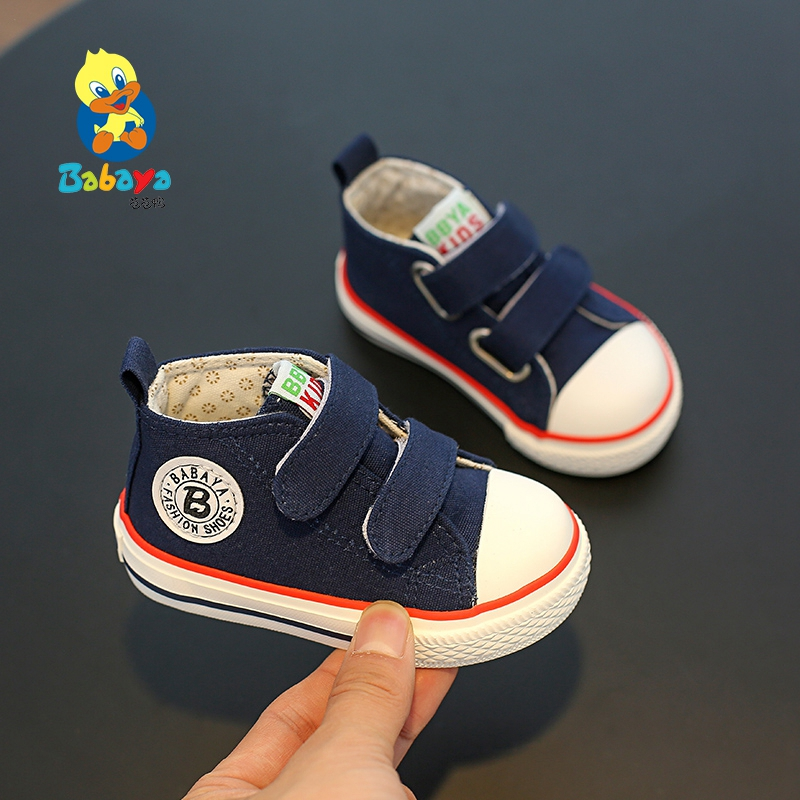 Toddler Shoes Baby Autum Soft-Bottom Girls Breathable Fashion New Child Spring Canvas
