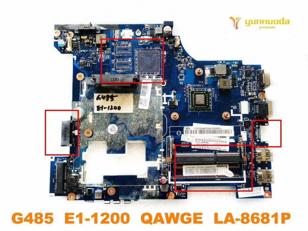 Original For Lenovo G485 Laptop Motherboard G485  E1-1200  QAWGE  LA-8681P Tested Good Free Shipping