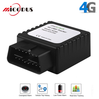 4G GPS Tracker Car OBD GSM Tracking Device 3G Car Locator OBD 2 OBD2 Connector MP90 Realtime Voice Monitor Geo Fence Free APP