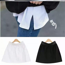 Base-Skirt Sweatshirt Short Mini Harajuku Female Korean-Style with All-Match In-The-Hem