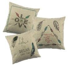 Plume Design imprimé coton Liene housse de coussin la taie d'oreiller de Style nordique pour canapé canapé nouvel an décor à la maison