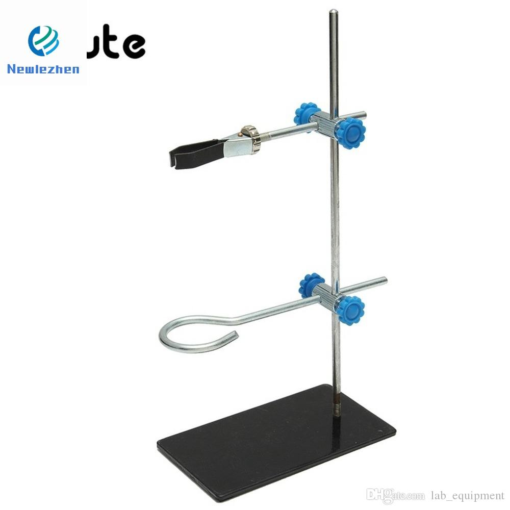 Lab Bracke Stands SupportKicute 1pcs 30cm High Retort StandIron Stand With Clamp Clip Laboratory Ring Stand Equipment