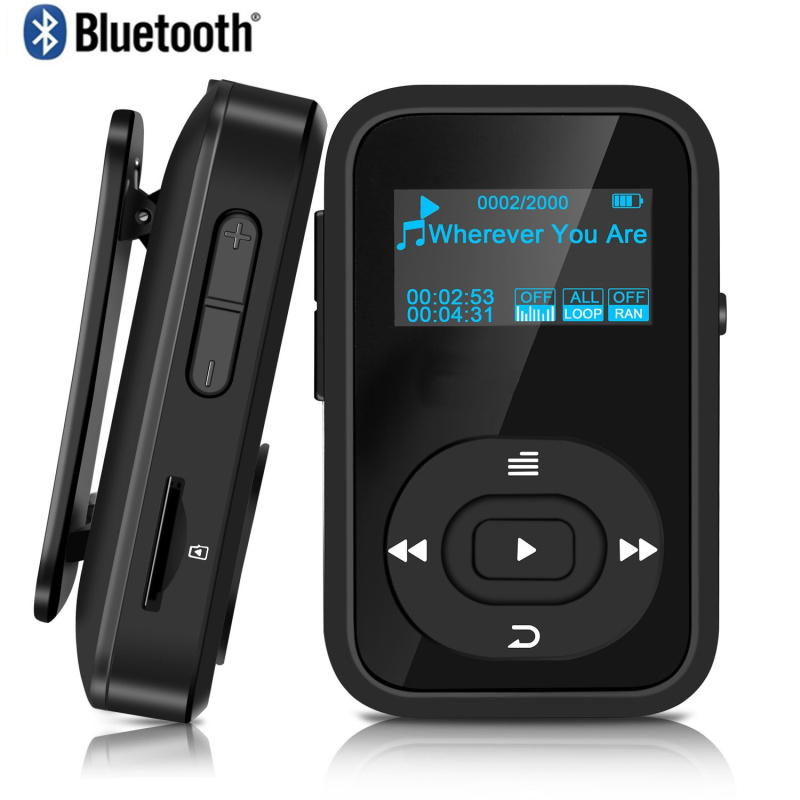 2018 Original MP3 Player Walkman Clip Bluetooth 8GB Sport Lossless Music Player Recorder FM Radio Support TF Card