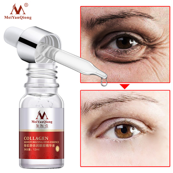 MeiYanQiong Collagen Eye Serum Hyaluronic Acid Moisturizing Anti-Aging Serum Reduce Fine Lines Dry Firming Lifting Eye Skin Care dark spot corrector remover serum for face most potent anti aging facial corrector reduce fine lines