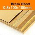 Латунный лист 0 8x100x100 мм пластина CuZn40 2 036 CW509N C28000 C3712 H62 Cu Индивидуальный размер CNC рамка модель формы DIY Contruction