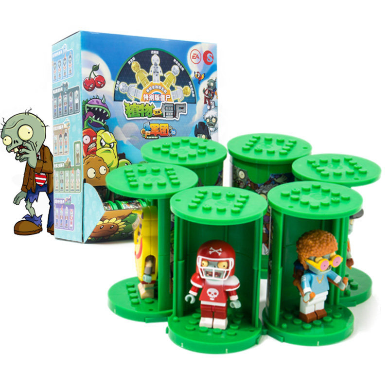 Plant War Zombie Toy New Products Zombie Legion Special Paragraph Ride Stack Series Building Blocks Blind Box Boy Gift