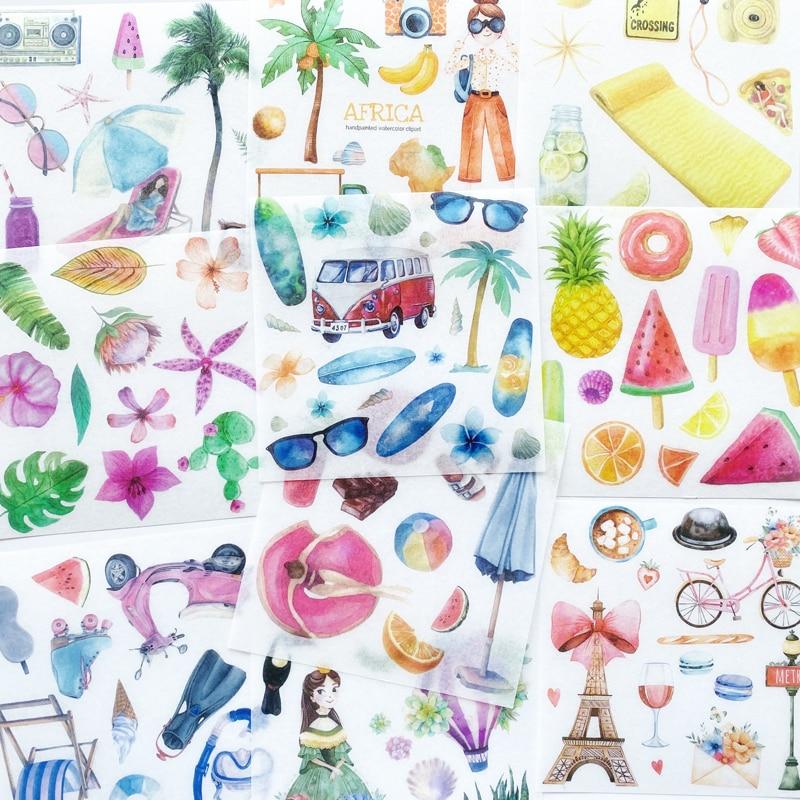 10 шт./упак., летняя Гавайская фотография, рукоделие, скрапбукинг