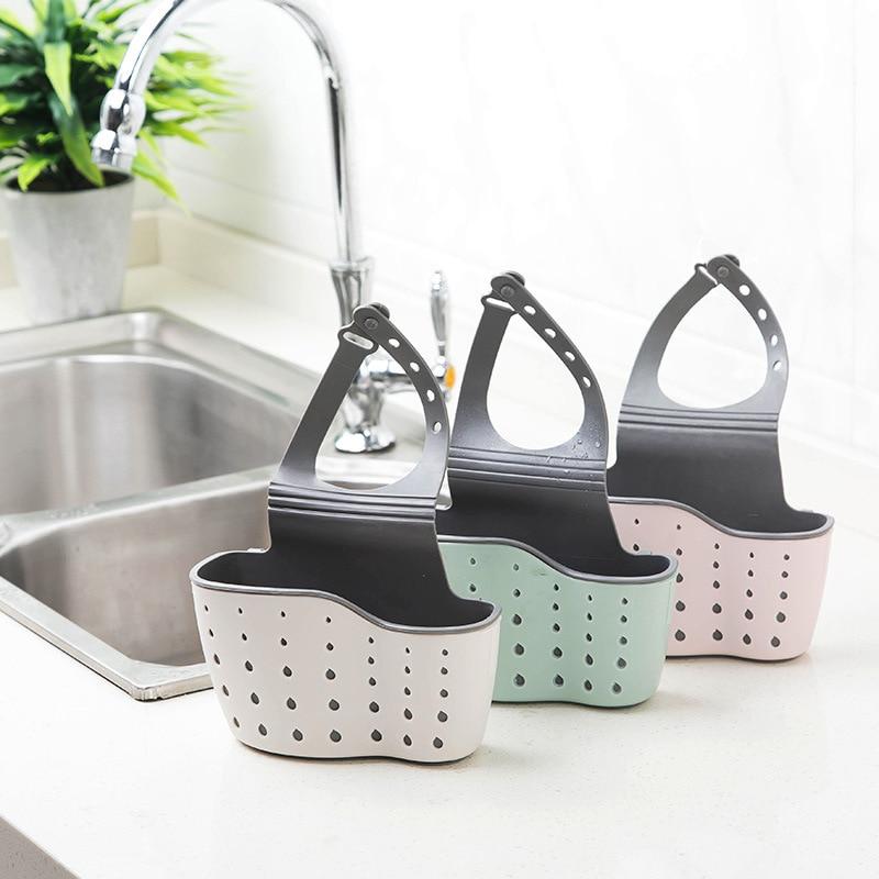 Mensola lavandino Sapone Spugna Rack di Scarico del Bagno Titolare Contenitori E Complementi Per Cucina Ventosa Da Cucina Organizzatore Lavello accessori per la Cucina di Lavaggio 2