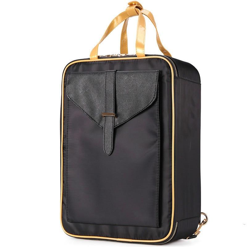 Big Professional Makeup Organizer 2019 New Make Up Storage Backpack Fashion Toiletry Case Storage Box Travel Cosmetic Suitcase