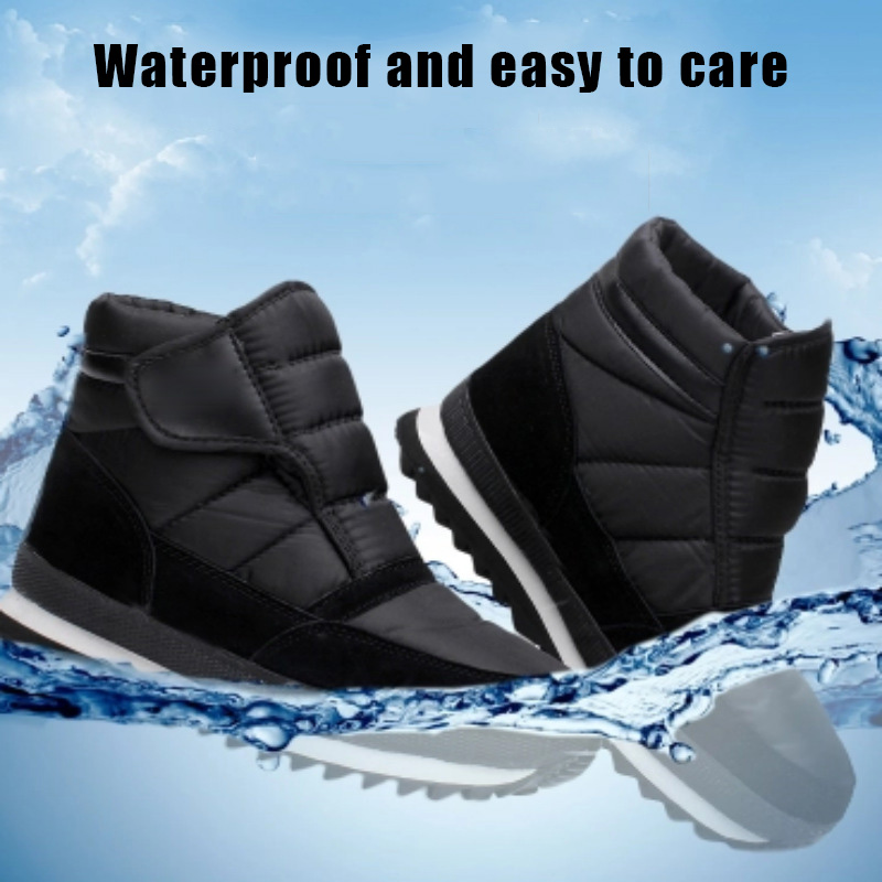 Mens Snow Boots Winter Warm Waterproof Ankle Boots Hiking Casual Shoes Outdoor K-BEST image
