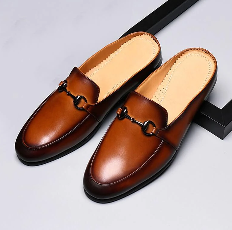 Men Pu Leather Shoes Casual Shoes Dress Shoes Brogue Shoes Spring Vintage Classic Male Casual   Summer Slippers Men F161