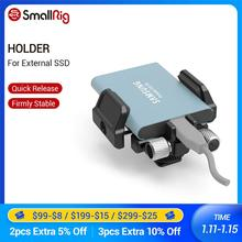 """Smallrig suporte universal para ssd, suporte ssd externo braçadeira com sapato frio e parafusos de 1/4 """" 20 parafusos 2343"""